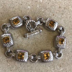 Judith RIPKA Sterling Citrine Quartz Bracelet